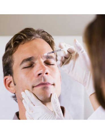 Botulinum toxin application for headaches