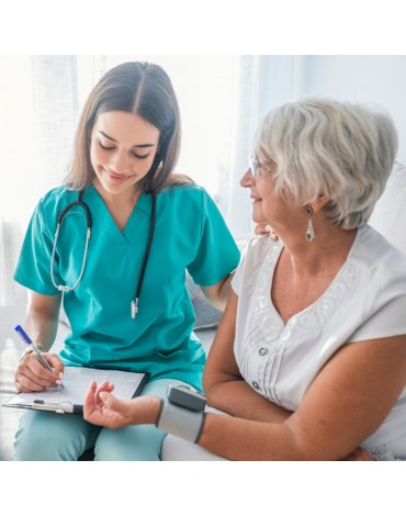 Geriatric consultation with electrocardiogram