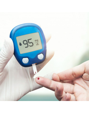 Blood glucose test and consultation (blood glucose analysis and consultation)